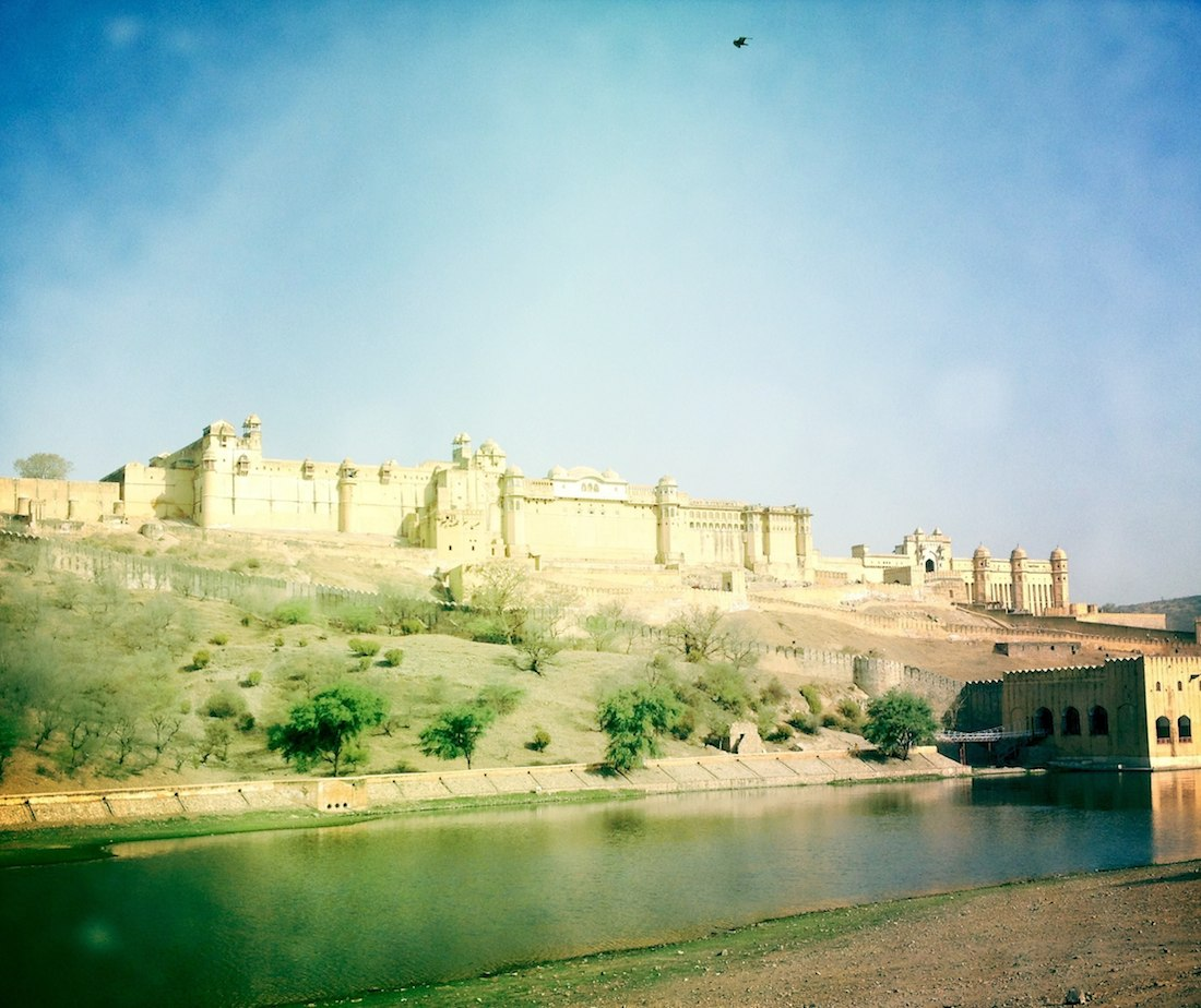 amber fort from a distance