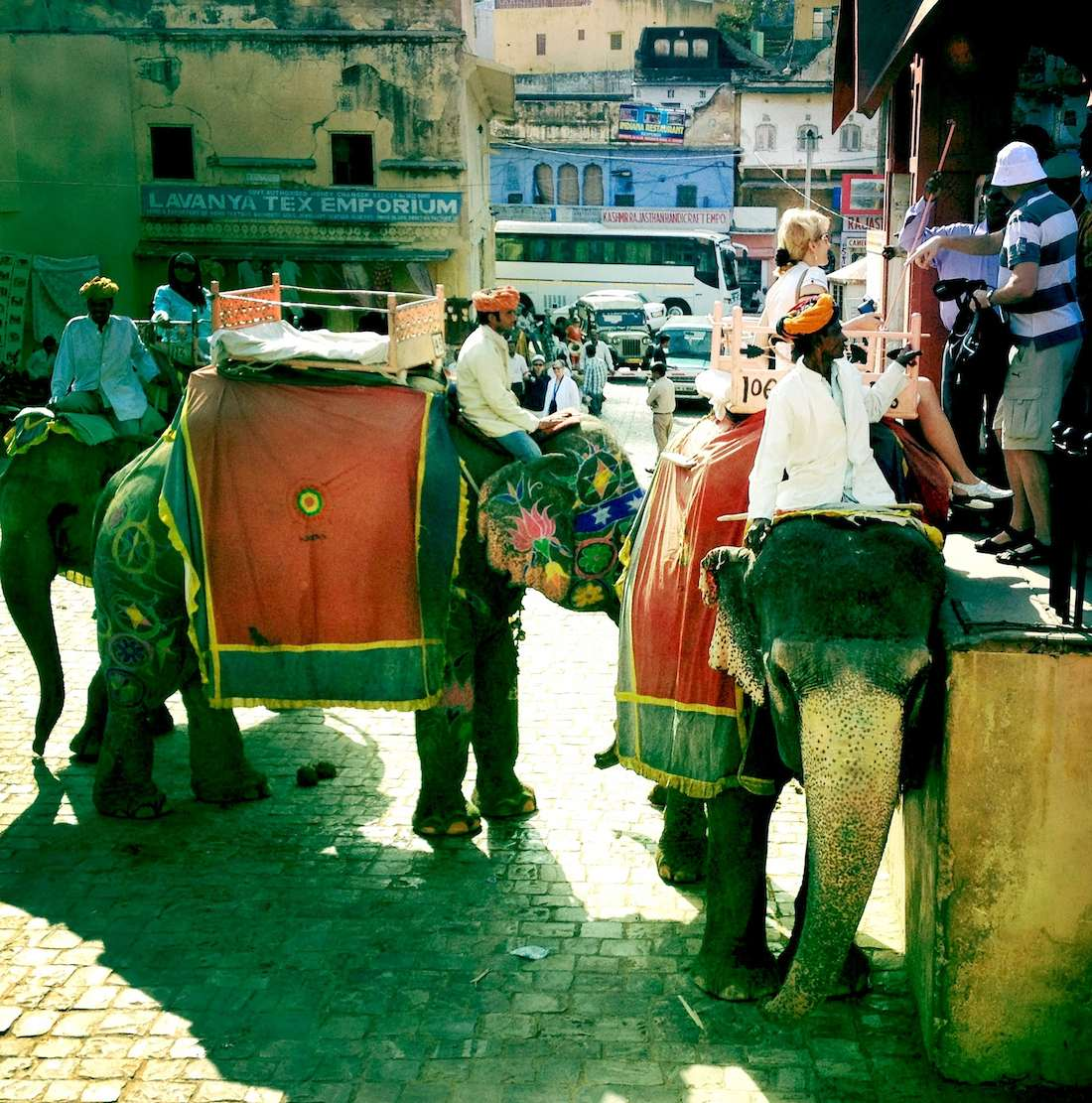 amer fort elephant station