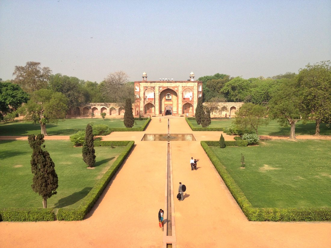 view from charbagh garden