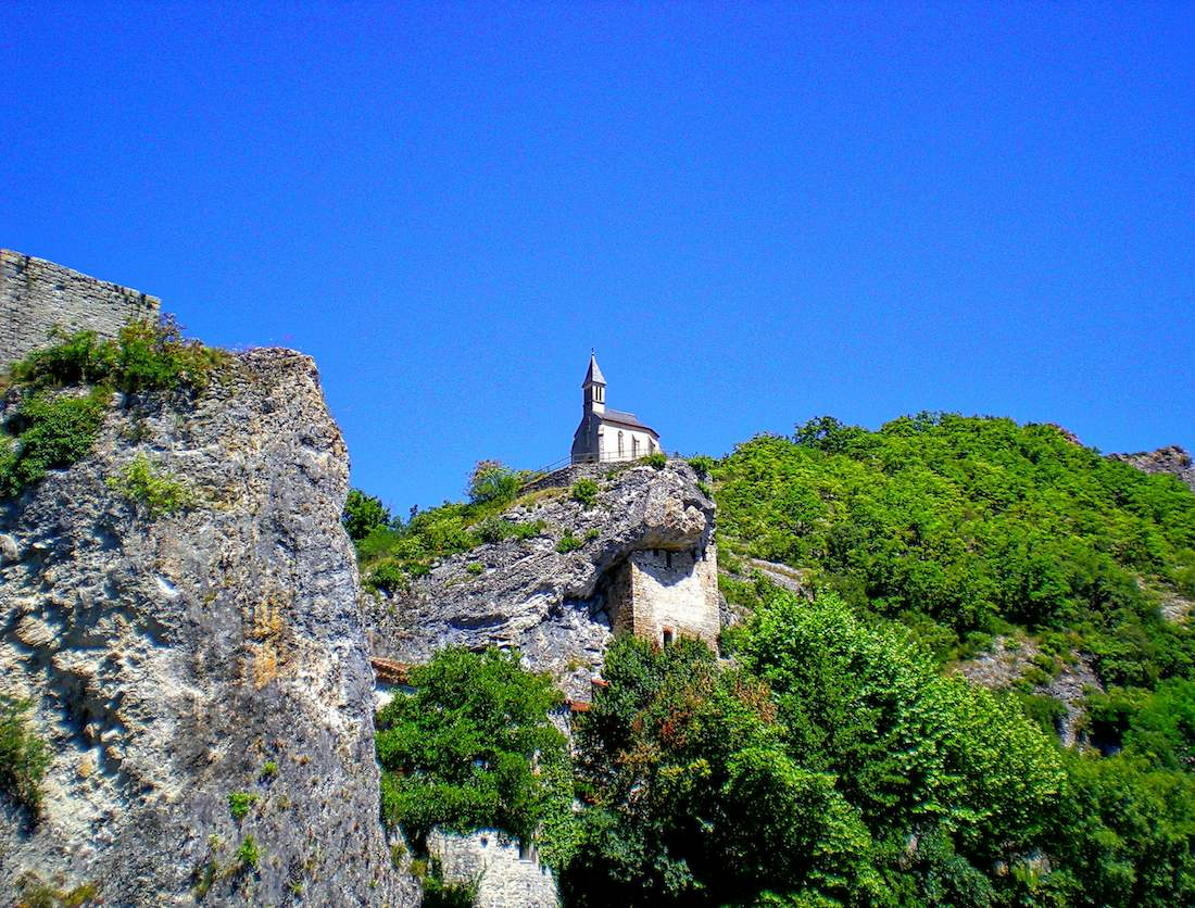 Church perched on a cliff