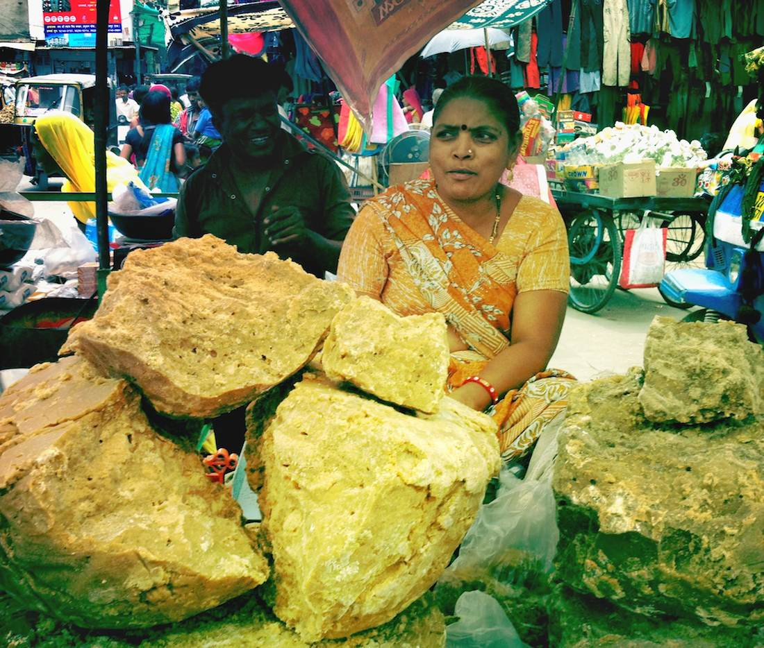 Rock sugar Udaipur market