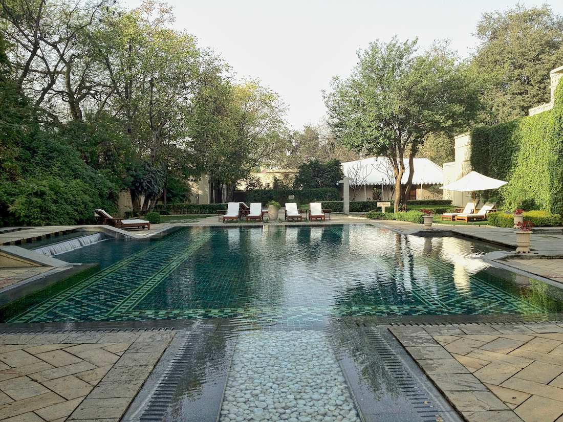 rambagh palace outdoor pool